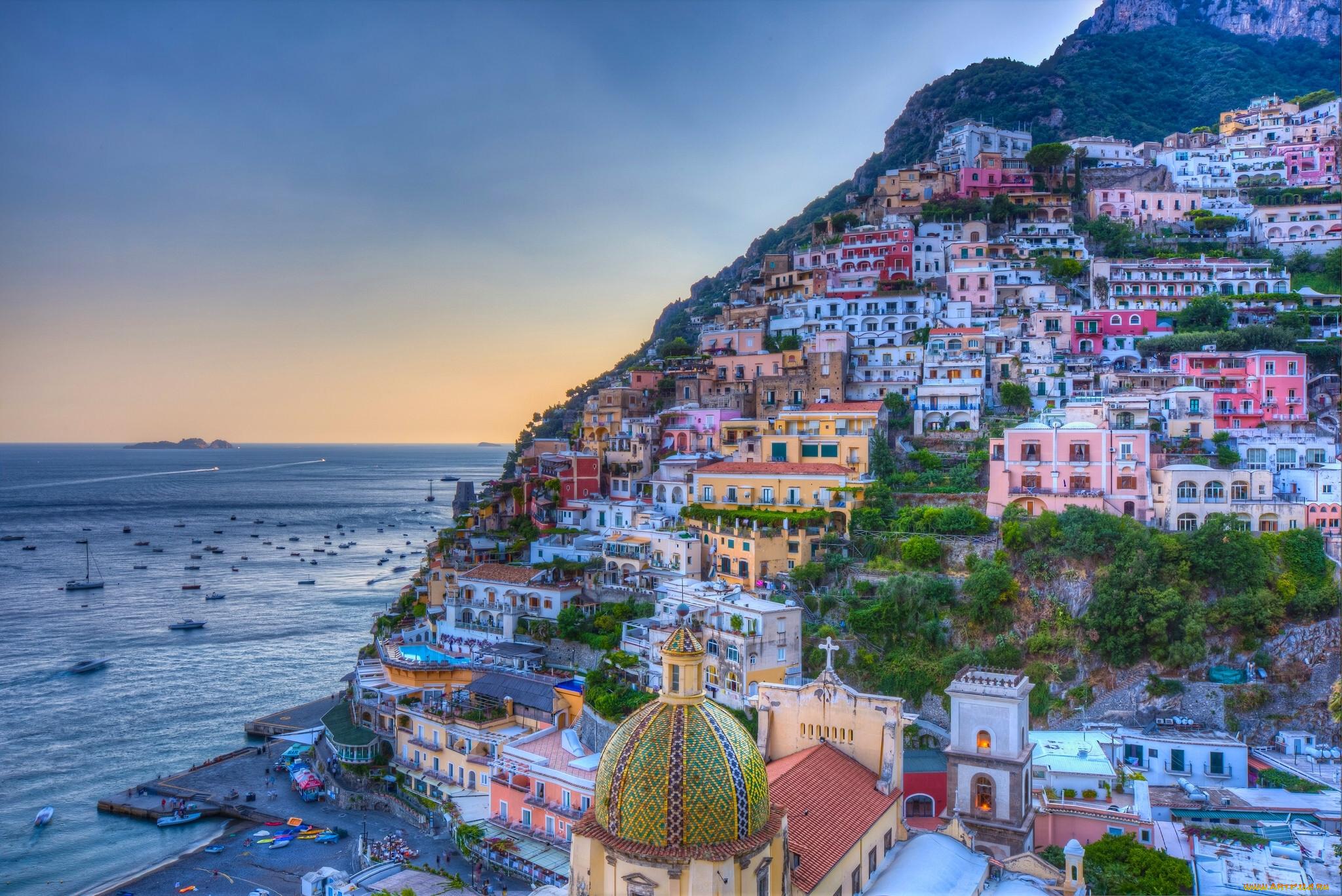 амальфитанское побережье италии фото фрески стену интерьере